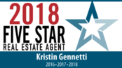 Kristin Gennetti Five Star Real Estate 2018 Winner