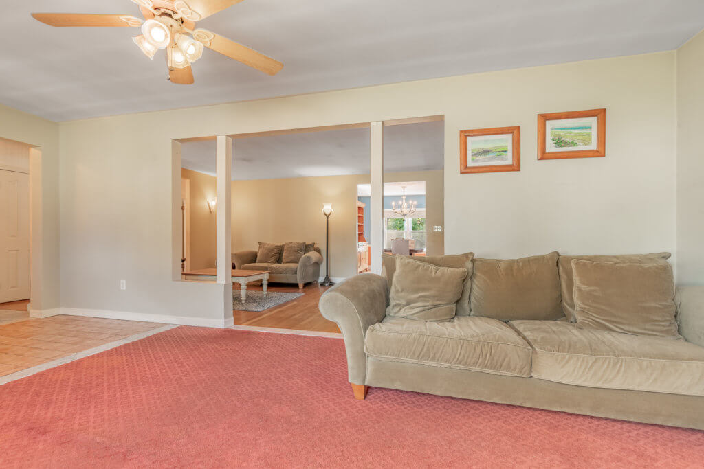Living Room into Family Room