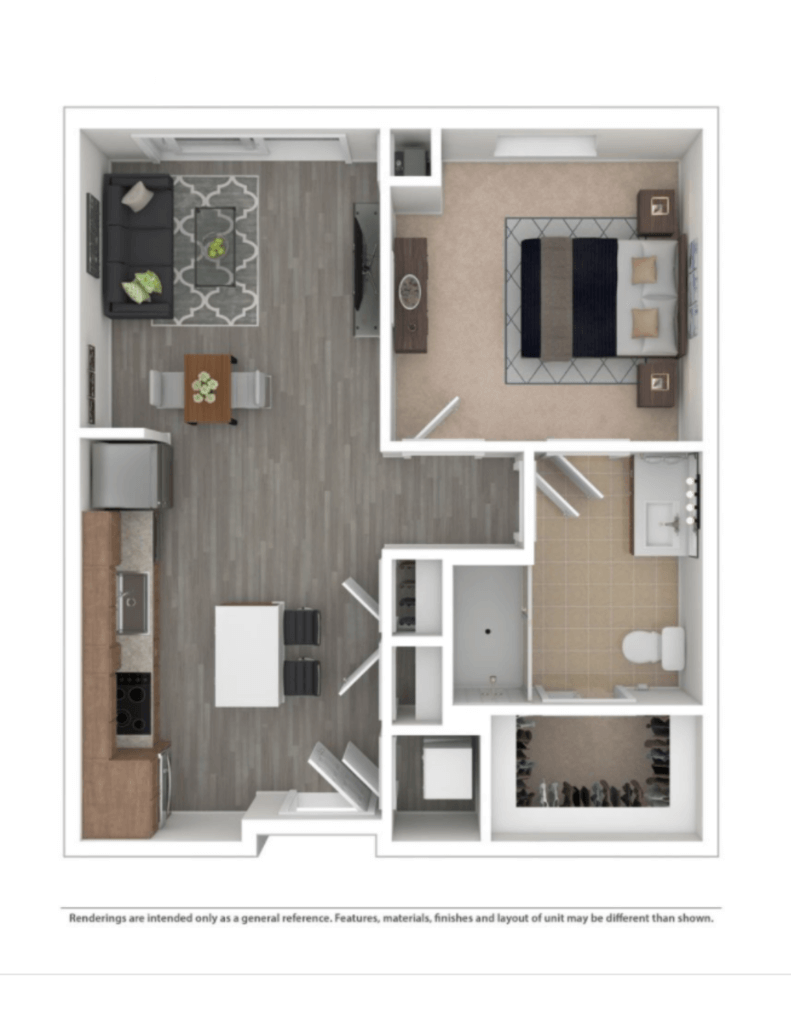 Open Concept, Floor Plan, 1 Bedroom Rental, Walk In Closet, J Malden Center, New Building, MBTA