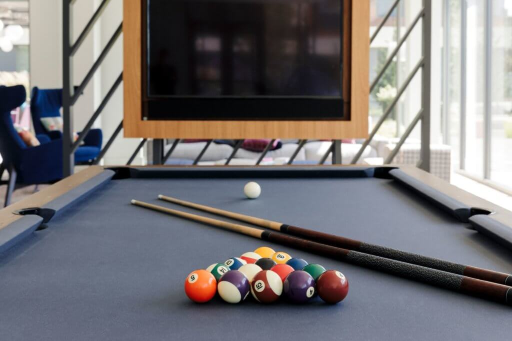 Billiards, Pool, Break, Social Space, J Malden Center, TV, Clubroom, Space, Malden MA, Rental